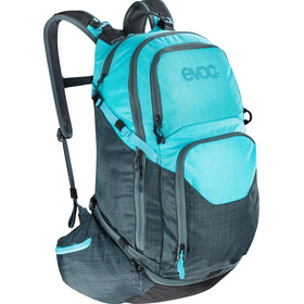 EVOC Explr Pro Technical Performance Pack Zaino 30l, heather slate-heather neon blue